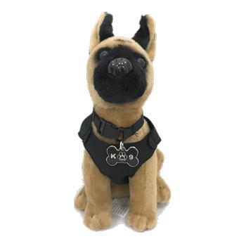 Police Hero Dog Malinois Plush Toy Elite K 9
