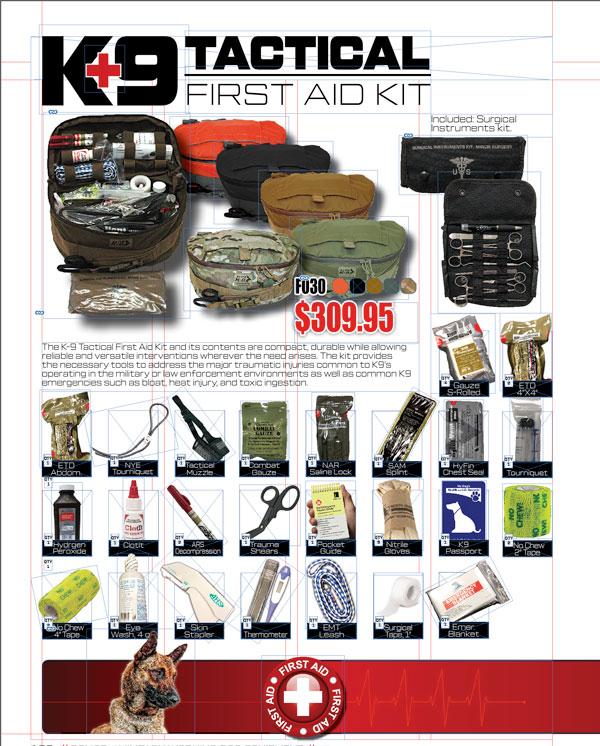 Elite K-9 Tactical First Aid Field Kit-Elite K-9